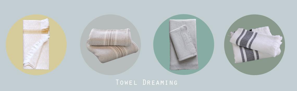 mungo flat weave towels