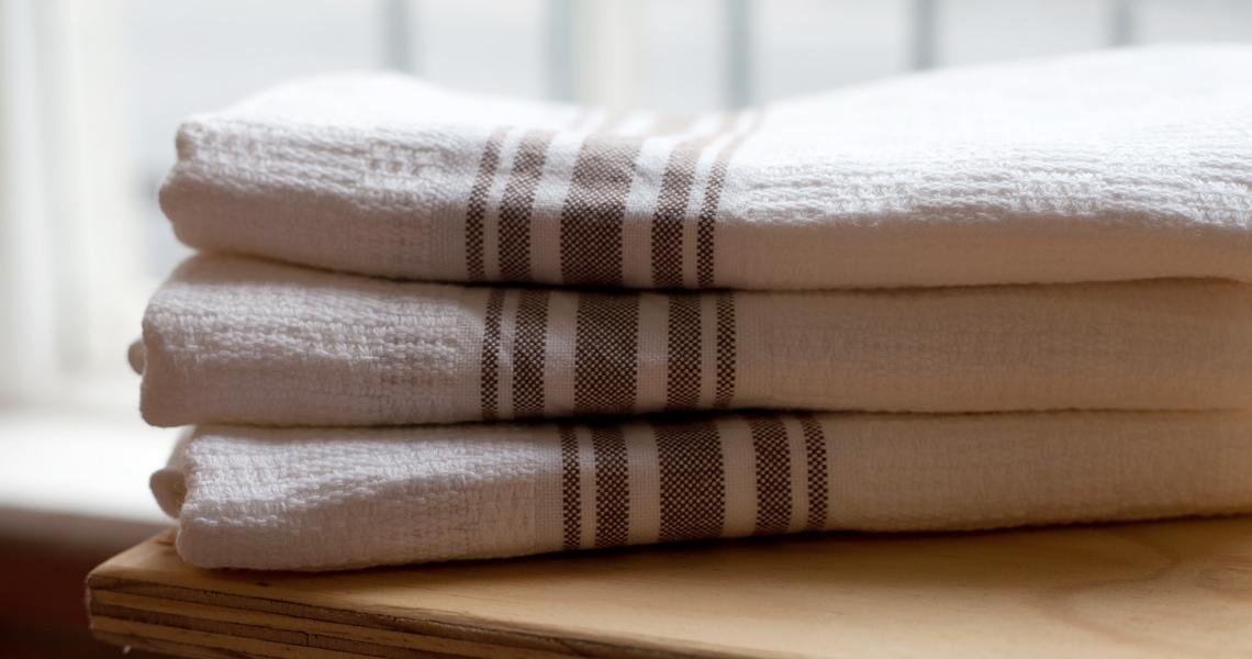 flat weave towels