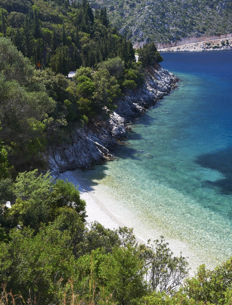 secluded beach, Ithaca