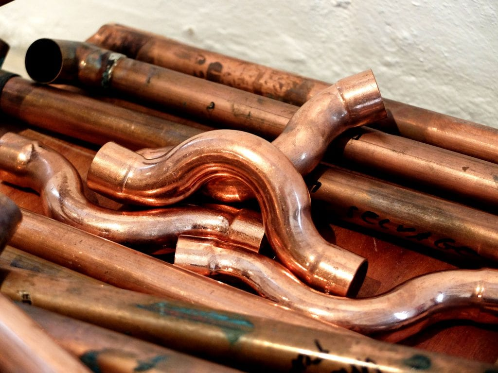 Mungo stand built from copper piping