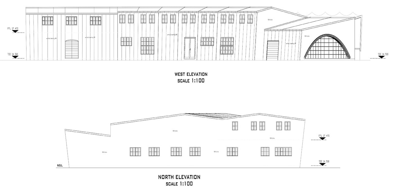 Weaving mill architecture plans