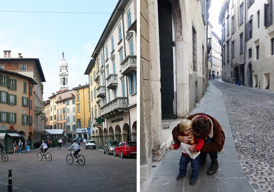 Rezka and Kristyn Holding in Bergamo, Italy.