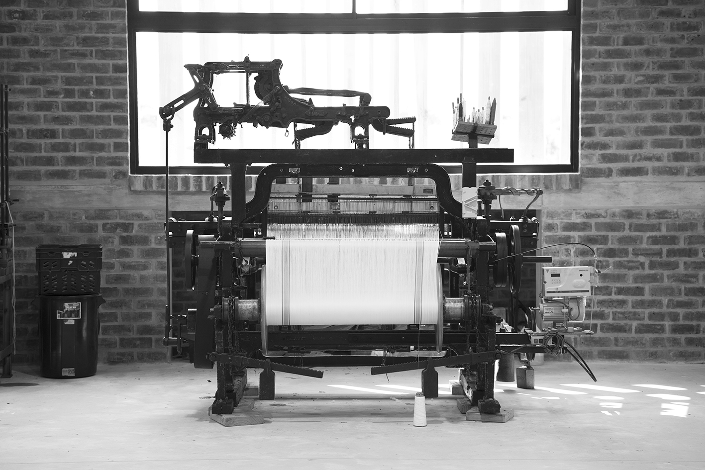 Antique loom at the Mungo Mill