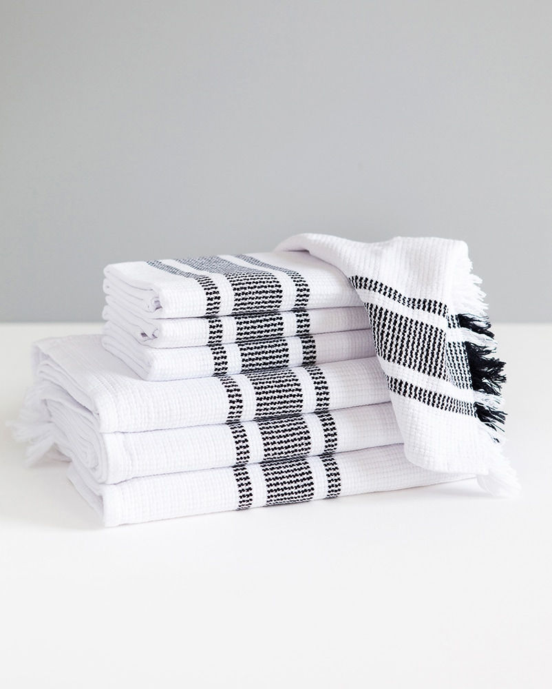 Continental Towel Classic Flat Weave Towel With A Stripe