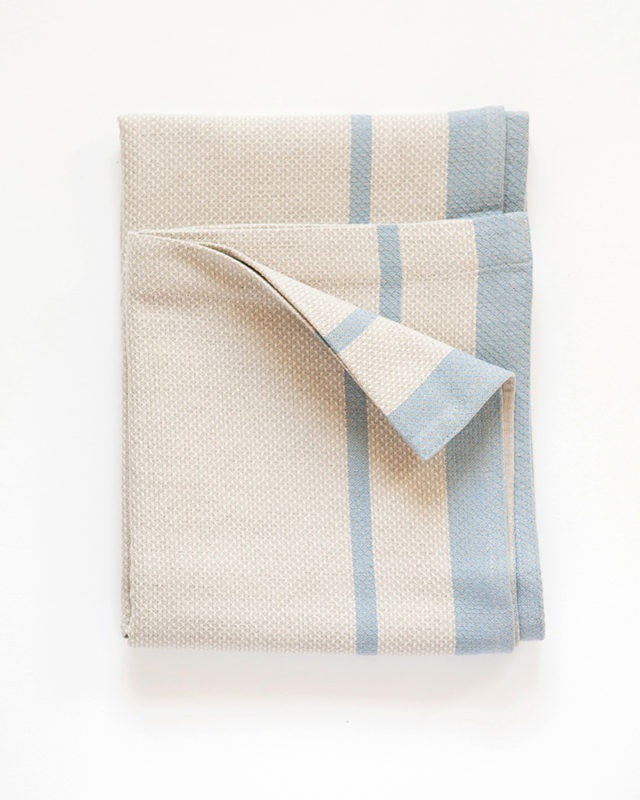 Mungo - Huck - Blue on Natural - Folded