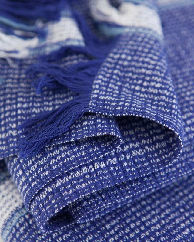 Mungo Summer Towel in cobalt colourway. Woven in South Africa