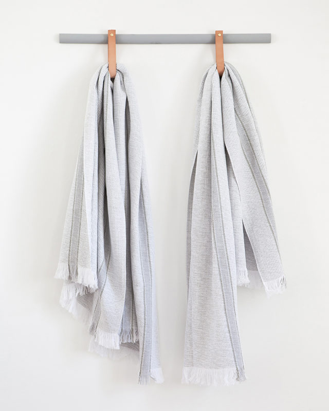 Mungo Summer Towel in grey. 100% cotton