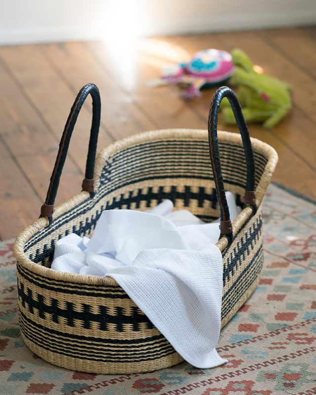 Mungo Organic Cotton Cot Baby Blanket. Light, breathable and warm for baby. Woven in Plettenberg Bay at the Mungo Mill