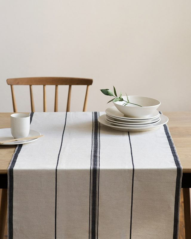 Mungo Table Linen Lisburn Table Runner in french navy, get it online at mungo.co.za