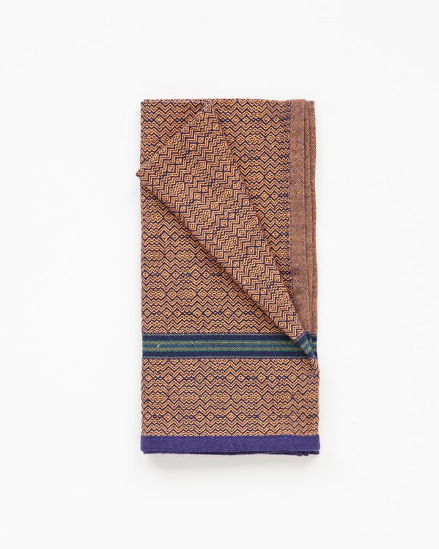 Mungo Boma Napkins in Orange Indigo, woven from pure cotton in South Africa