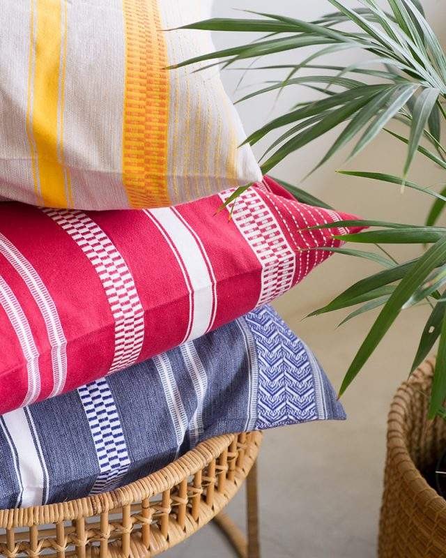 Vibrant colourful Mungo Mali Cushions Covers with a bold African Aesthetic
