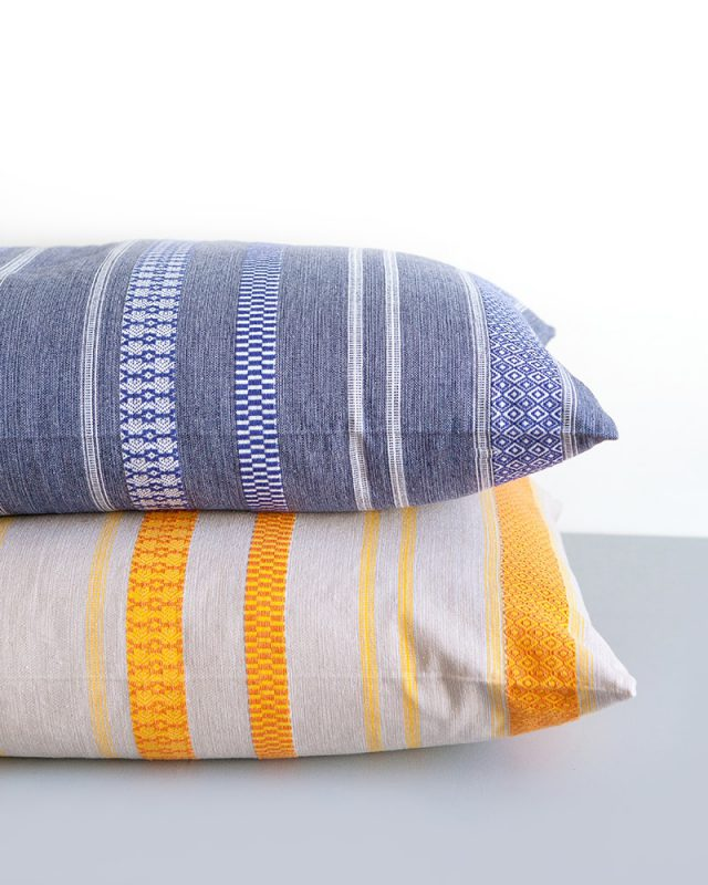 Mungo Mali Cushion Covers. Inspired by West-African designs. Woven in South Africa at the Mungo Mill. 100% cotton