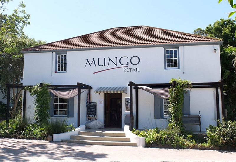 Mungo Plettenberg Bay shop shown from the outside, the building is over a 100 years old and was originally a trading outpost