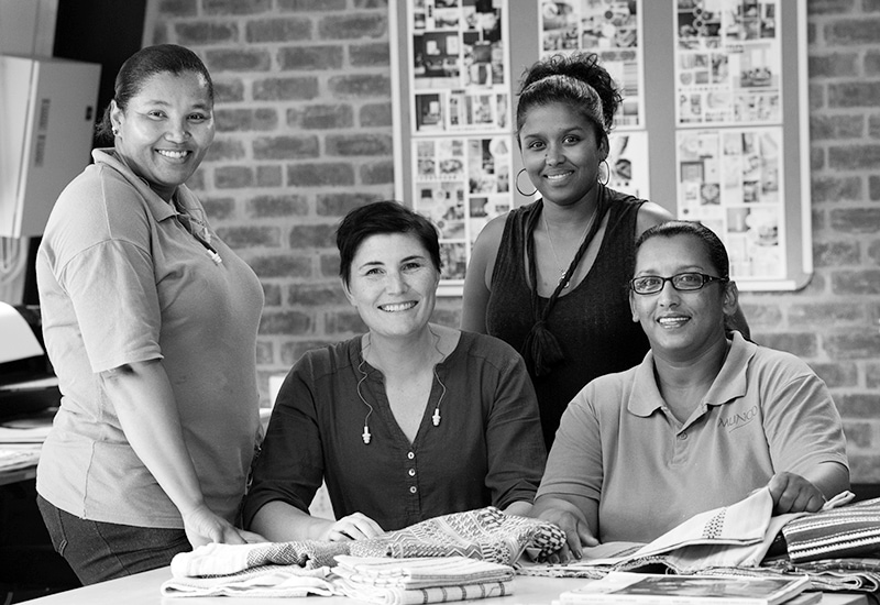 Mungo design team and production managers at the Mungo Mill in Plettenberg Bay