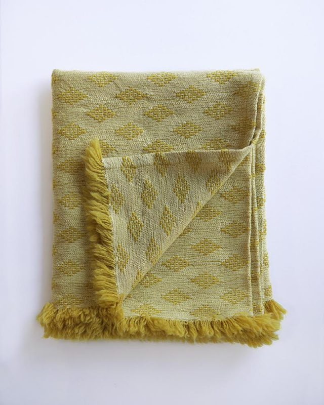 Naturally Dyed Kenza Scarf in the Heli Colourway