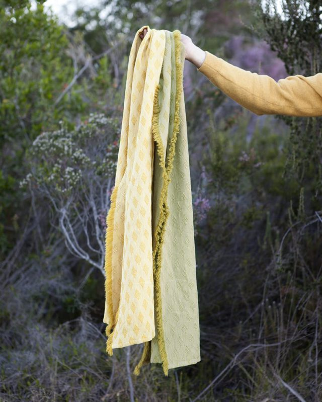 The naturally dyed Kenza scarf in it's natural environment