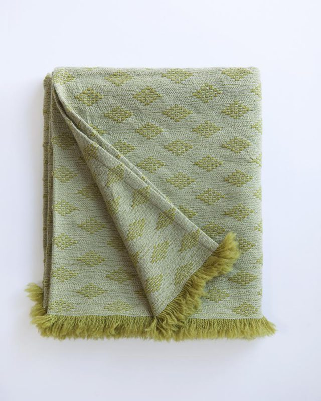 Naturally Dyed Kenza scarf in the Erica colourway