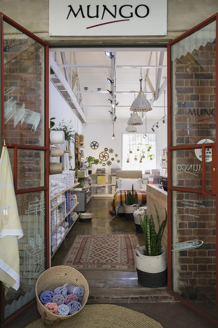 The best homeware textile and decor store in Johannesburg is the Mungo shop at 44 Stanley which stocks linen, bedding, towels and tablecloths all woven from natural fibre yarn.