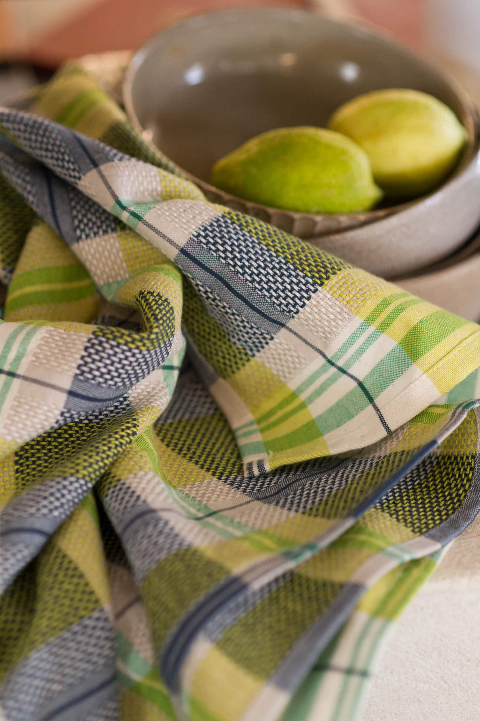 Mungo Vadoek Cloth in Dill, a colourful addition to out kitchen linen range