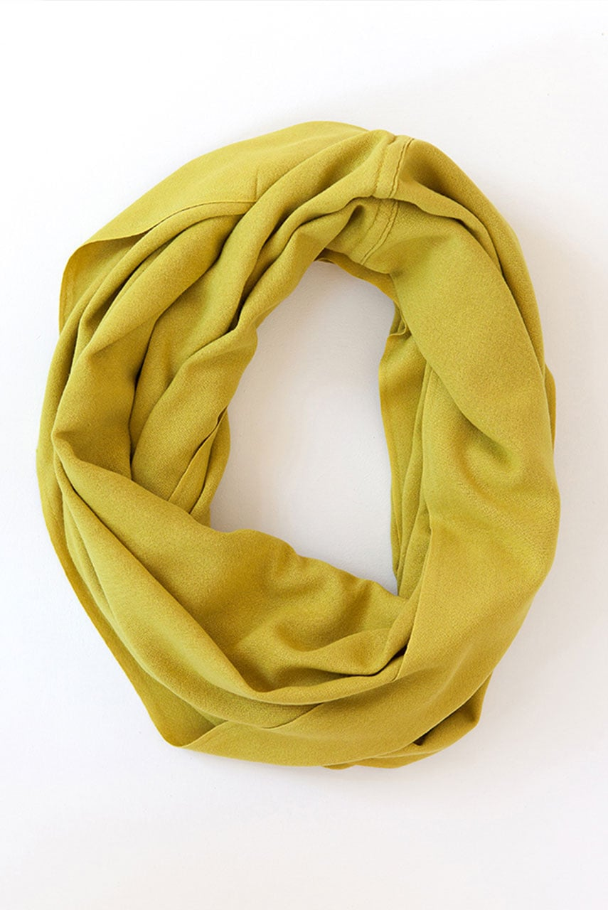 The Mungo Bamboo Infinity Scarf in Lime