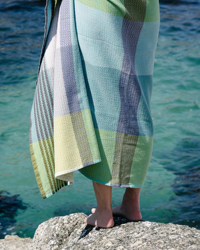 The Mungo Folly Towel is woven at the Mungo mill and available in three amazing colours.