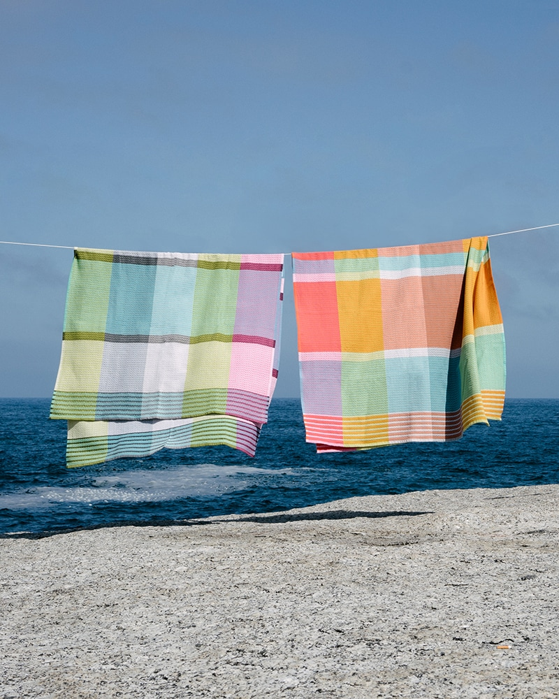 Mungo Folly Beach towels, woven in Plettenberg Bay South Africa