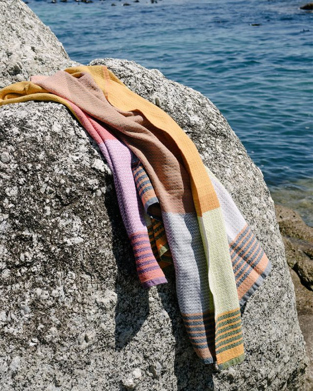 The Mungo Folly towel is the result of a happy accident and what a magical result.