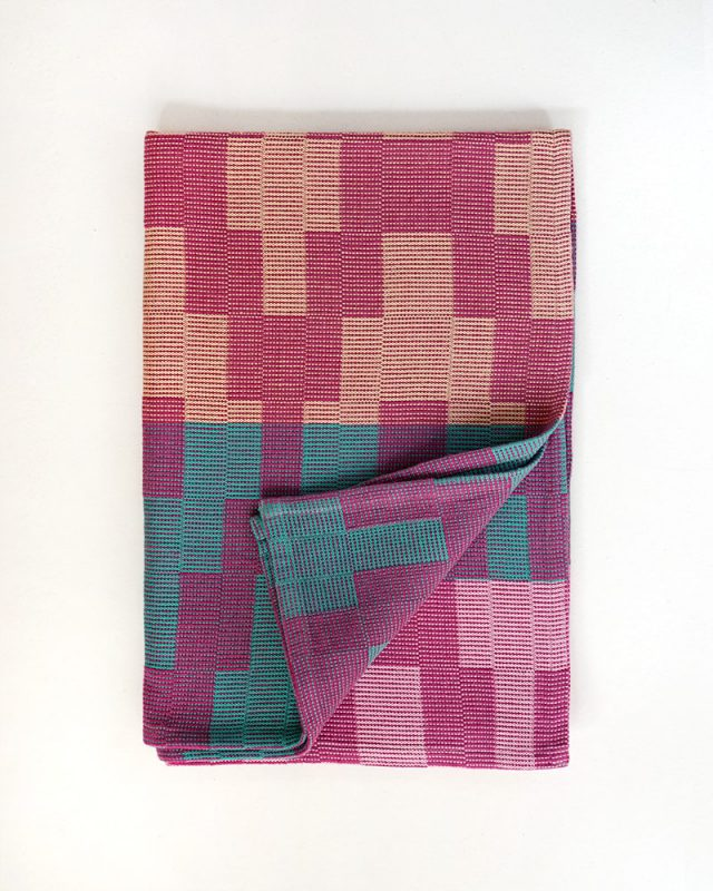 Mungo Moholo Dog Blanket in Magenta. Pure cotton & hard wearing, woven at the Mungo Mill in South Africa
