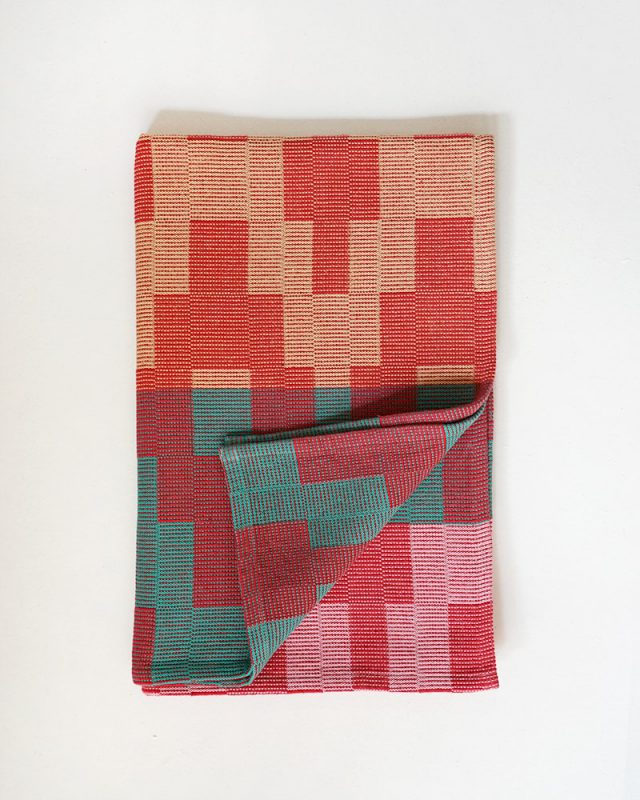 Mungo Moholo Dog Blanket in Melon. Pure cotton & hard wearing, woven at the Mungo Mill in South Africa