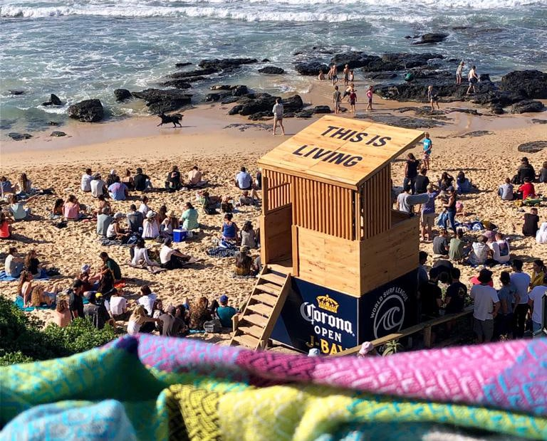 Mungo Folly Towel spotted at the Corona JBay Open