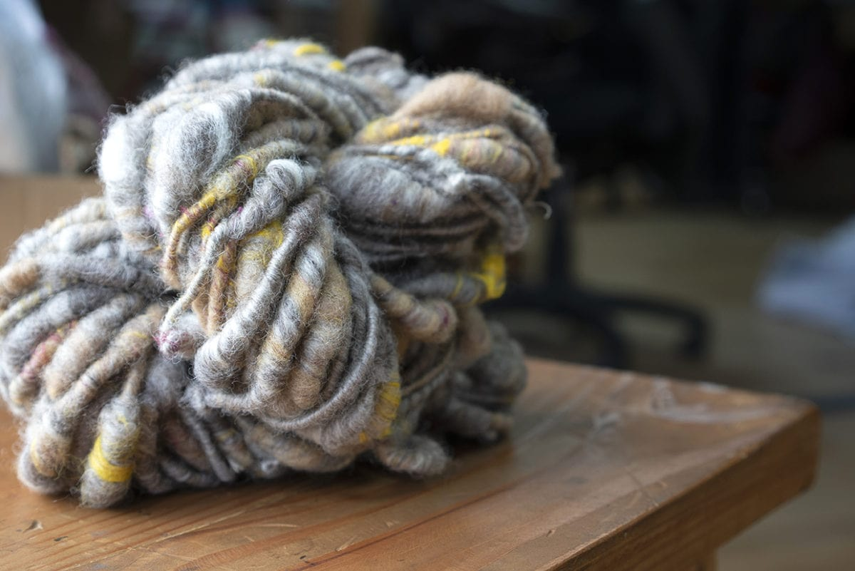 Handspun yarn - a creative project of our shop manager at Mungo US.