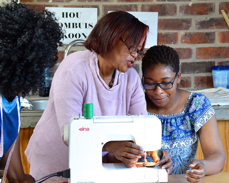 As part of the Mungo CSR, MOVE, we hold staff development workshops - offering training & talks on a variety of topics. Pictured the 2019 staff sewing workshop held at the Mungo Mill