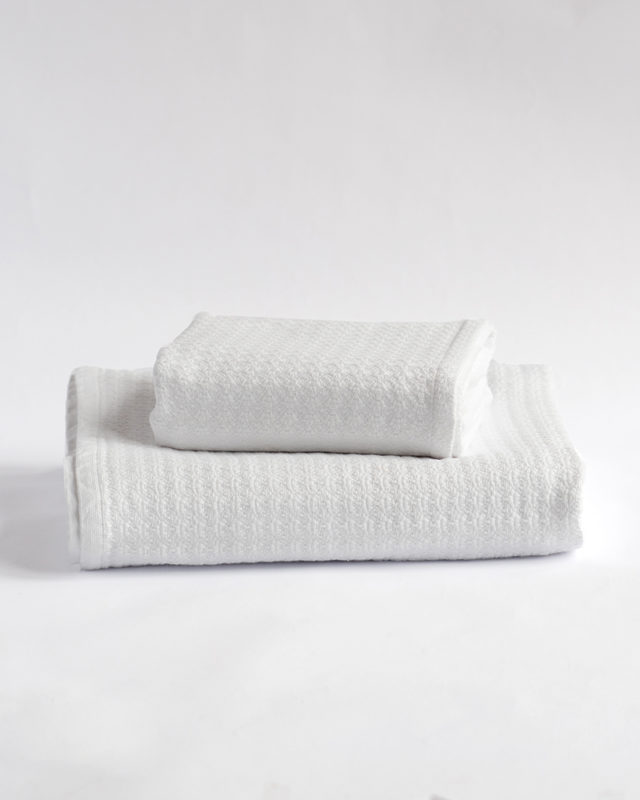 Mungo Organic Towel, woven from GOTS-certified cotton at the Mungo Mill in South Africa