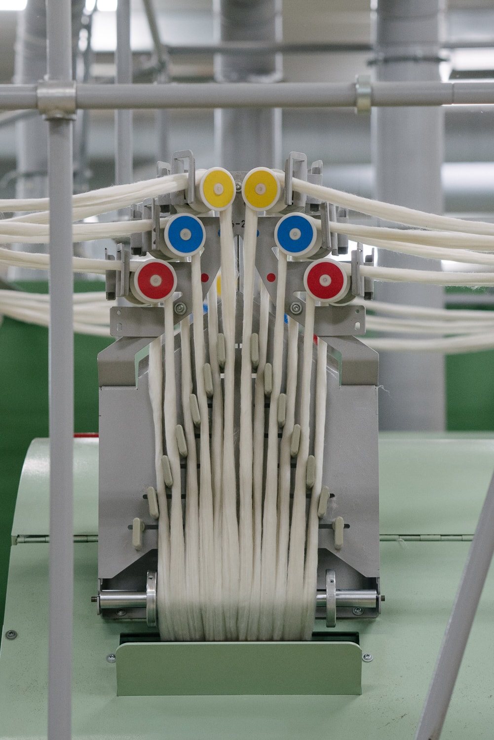 Organic cotton begins to take the form of yarn at a ginning plant in Turkey