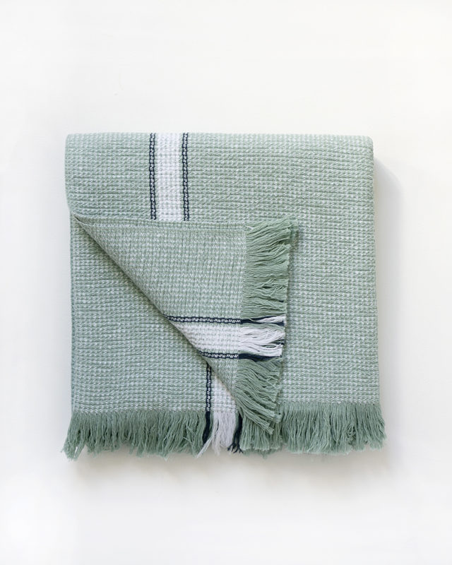 Mungo Summer Towel in Mint. Bath & beach towels woven from natural fibres in South Africa