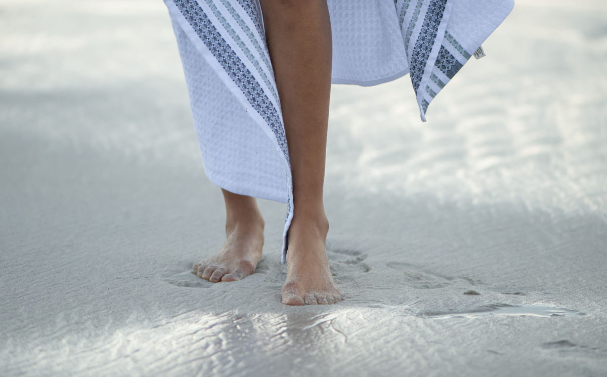 Mungo 100% organic towel - the Aegean