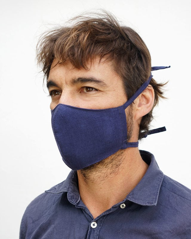 Mungo Linen Masks. For every sold, we'll donate one to someone in need. Designed to protect against Covid-19. Available online only.