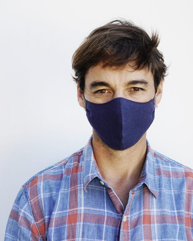 Mungo Linen Face Mask with elastic toggle. Designed to limit the spread of Covid-19. Available online only with delivery nationwide in South Africa
