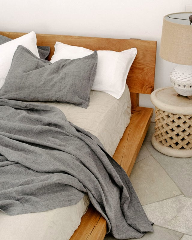 Mungo Kamma Bed Linen. 100% Italian linen, spun and finished at the Mungo Mill in Plettenberg Bay, South Africa